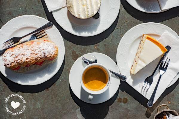 Espresso and desserts