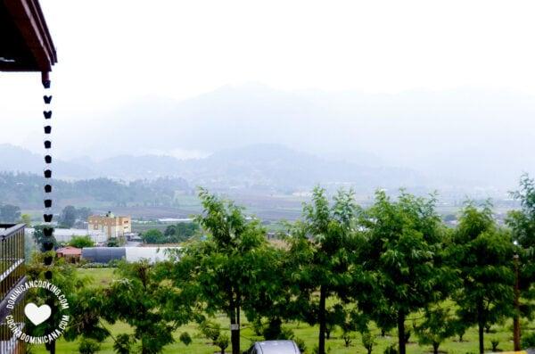 View of Constanza mountains through the fog
