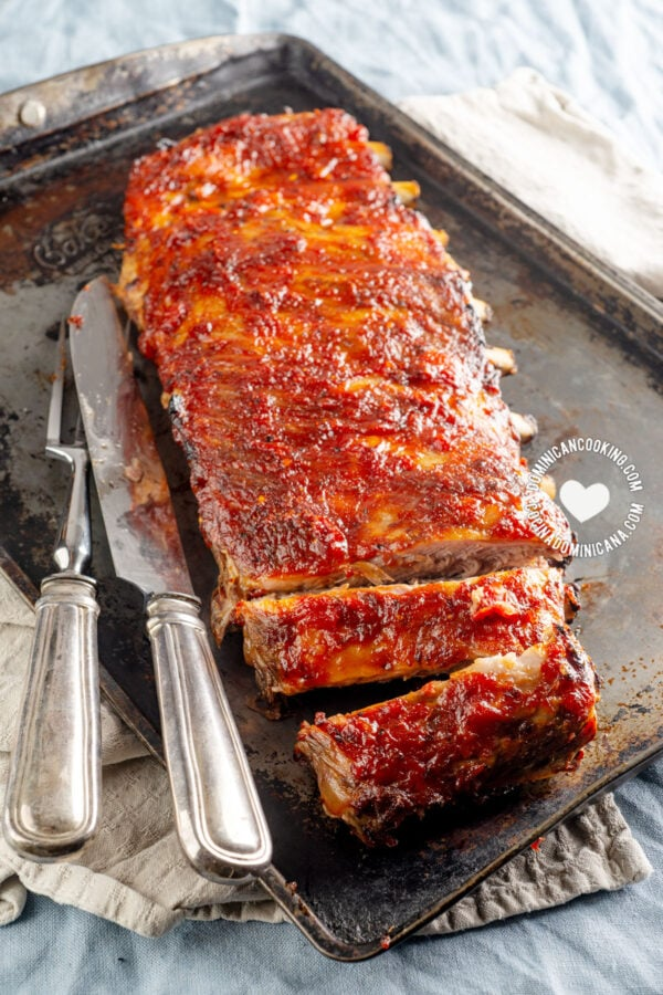 Smoky Ribs with Spicy Rum BBQ Sauce