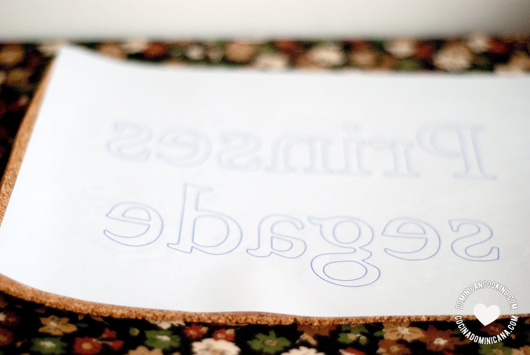 Print and glue text