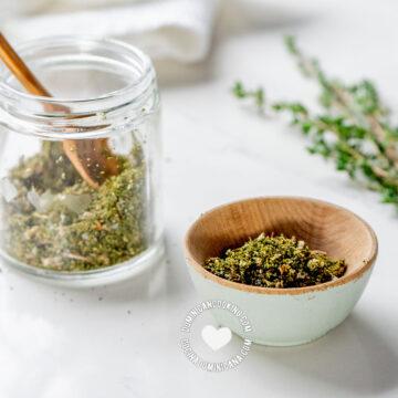 Homemade Seasoning Powder and Ingredients