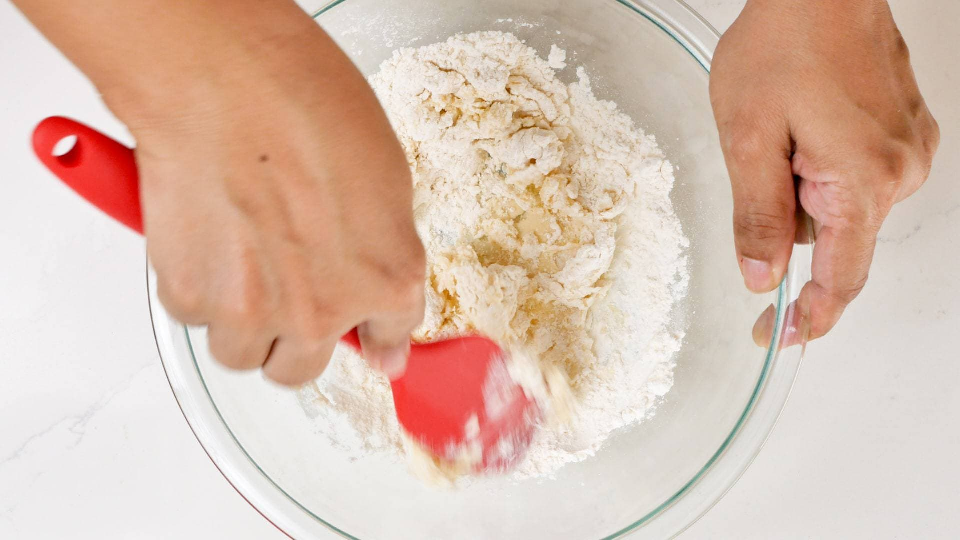 Mixing dough for domplines