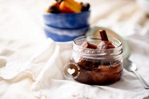 Cashew apple jam and fruits