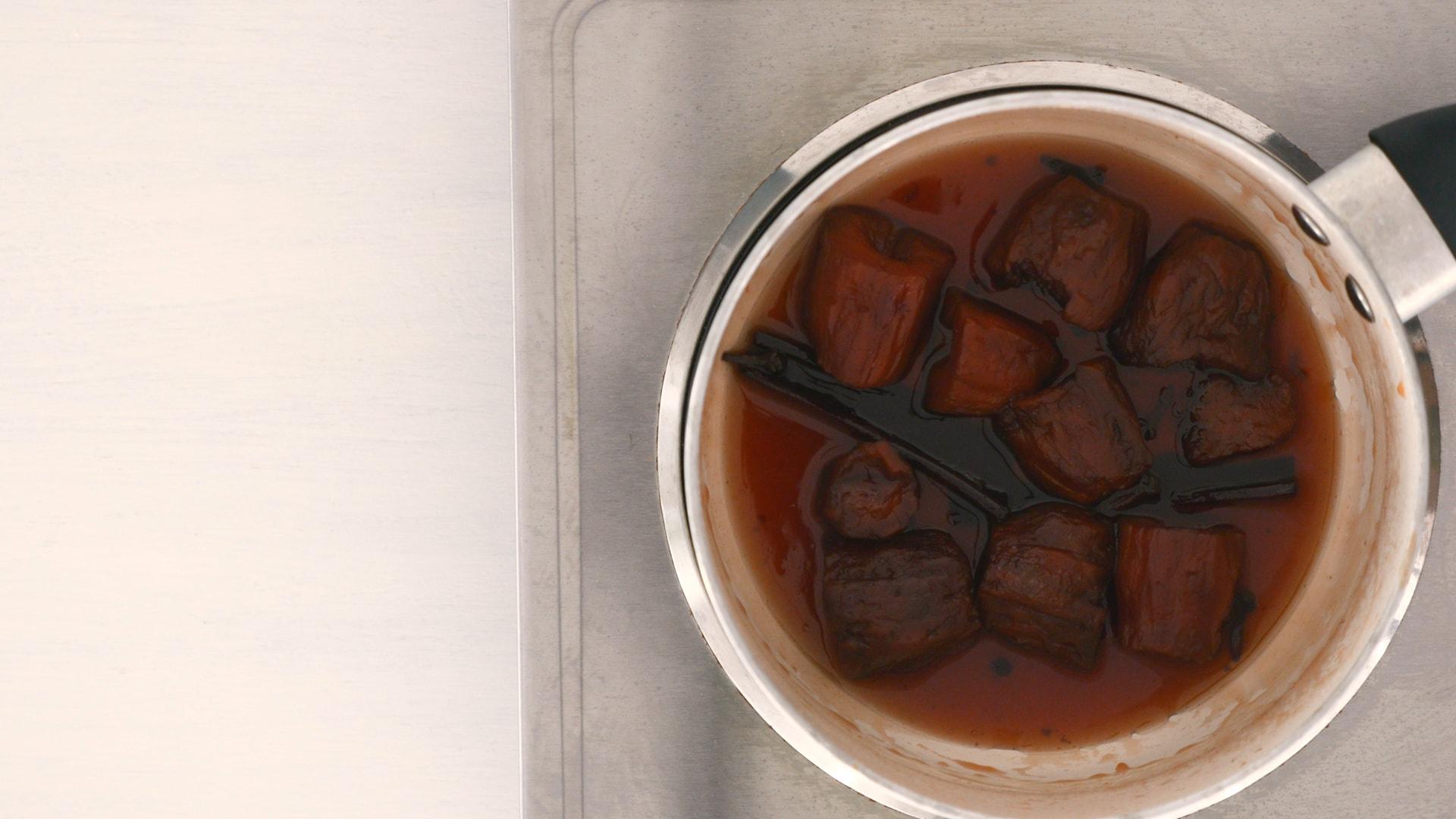 Reducing caramel