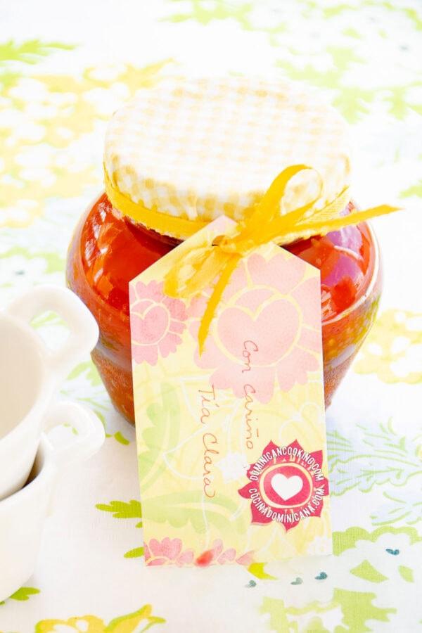 Jar of Dulce de Tomate (Tomato Jam)