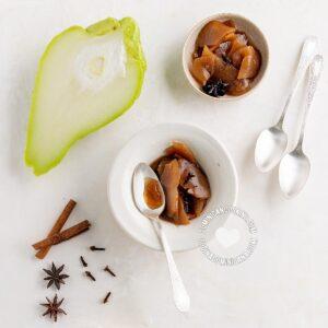 Dulce de tayota en almibar (chayote dessert)