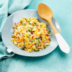 rice salad with pineapple