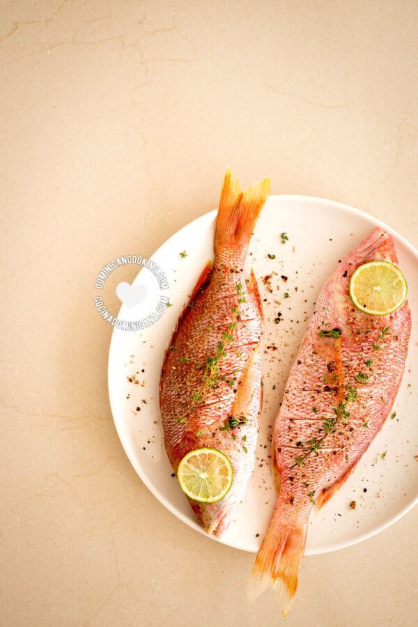 Two fish on plate