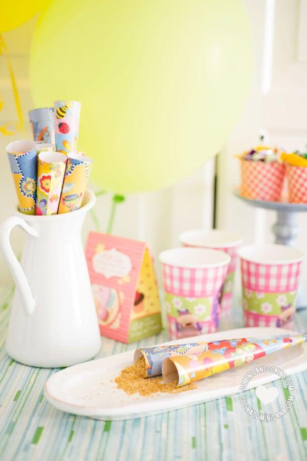 Gofio (Sweet Corn Powder) with birthday items