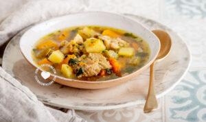 Served soup