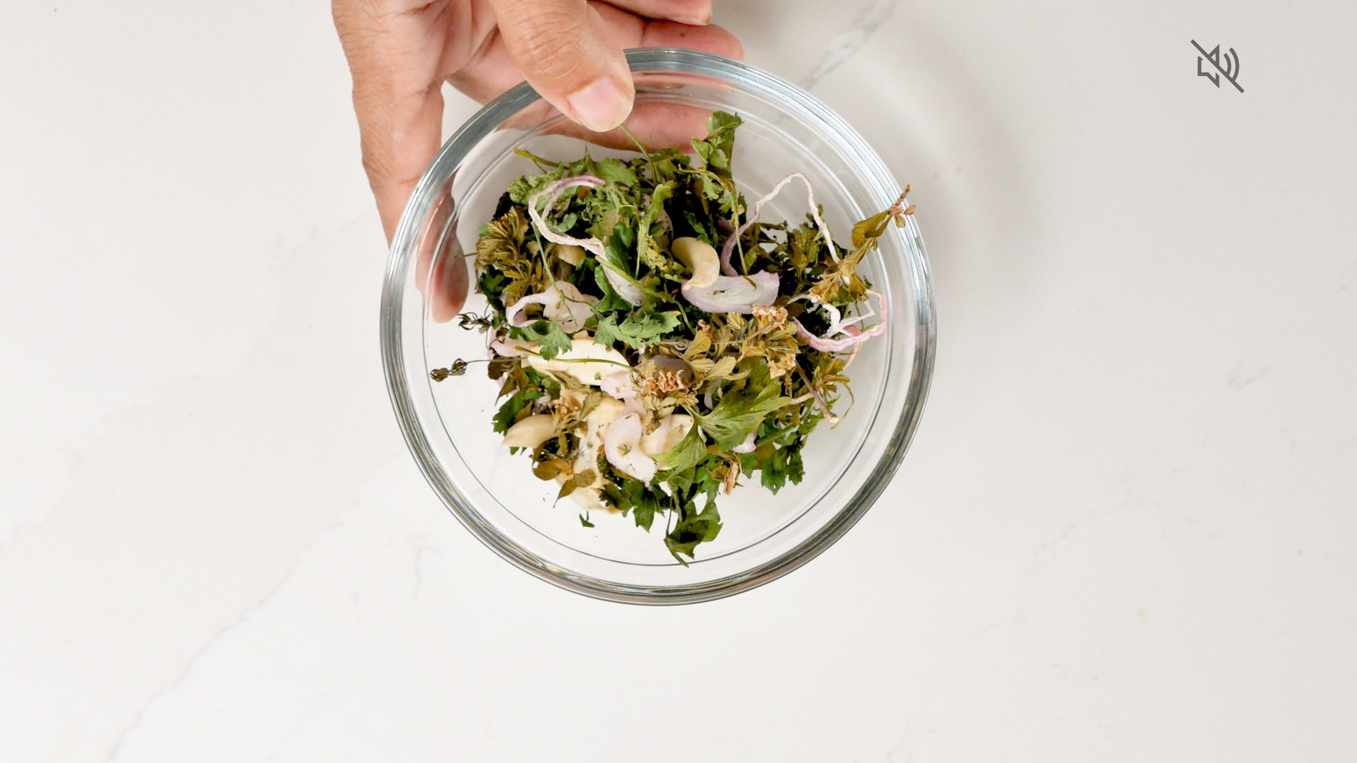 Leaves in a bowl