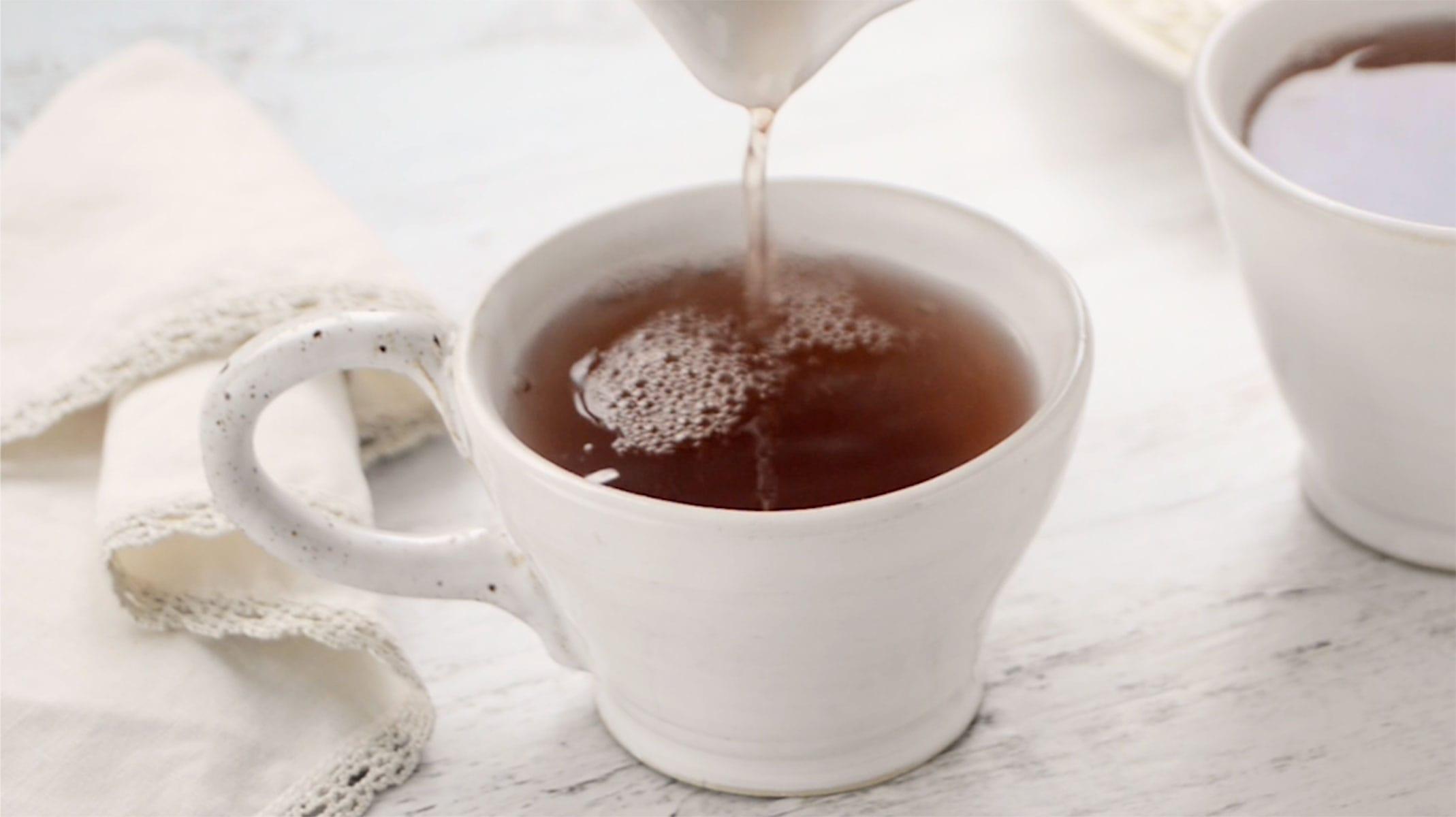 Serving ginger tea