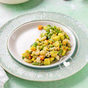 Vegan Pasta and Avocado Salad
