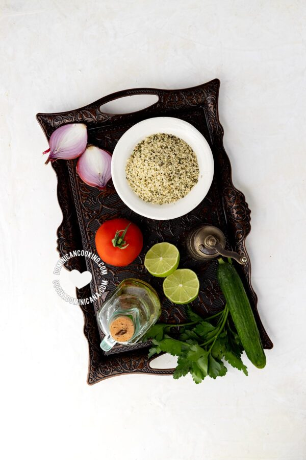 Ingredient for wheat-free tabbouleh