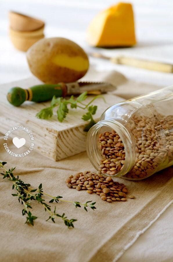 Vegan Lentil Stew Ingredients