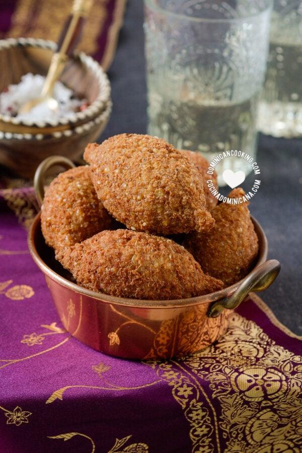 Dominican kipe (kibbeh) in bowl