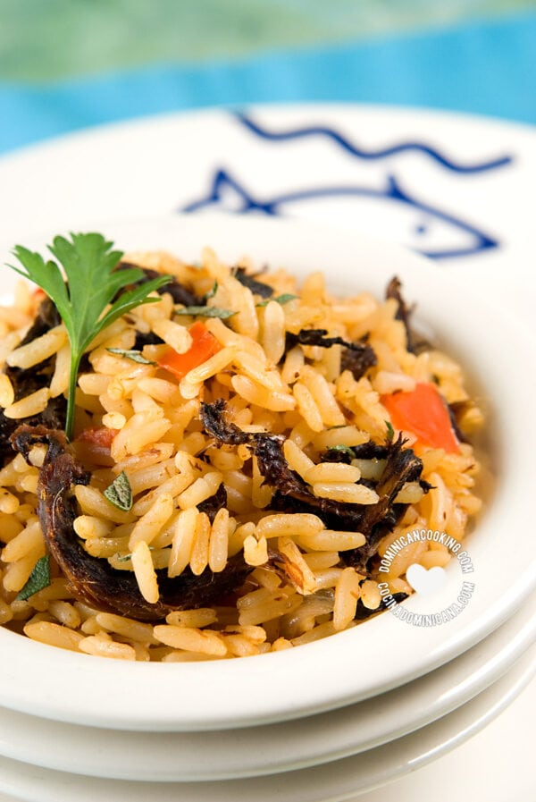 Rice with smoked herring