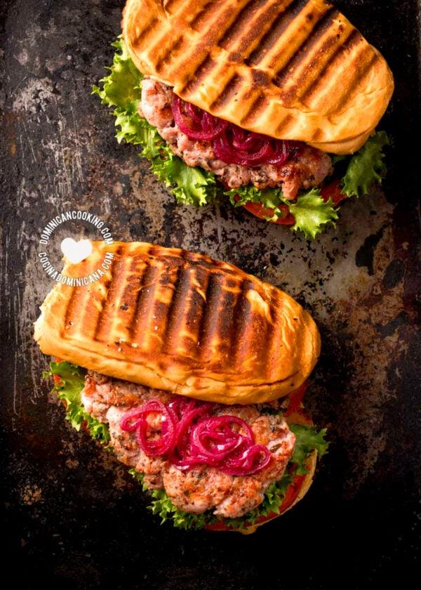 Longaniza Hamburgers (Sandwich)