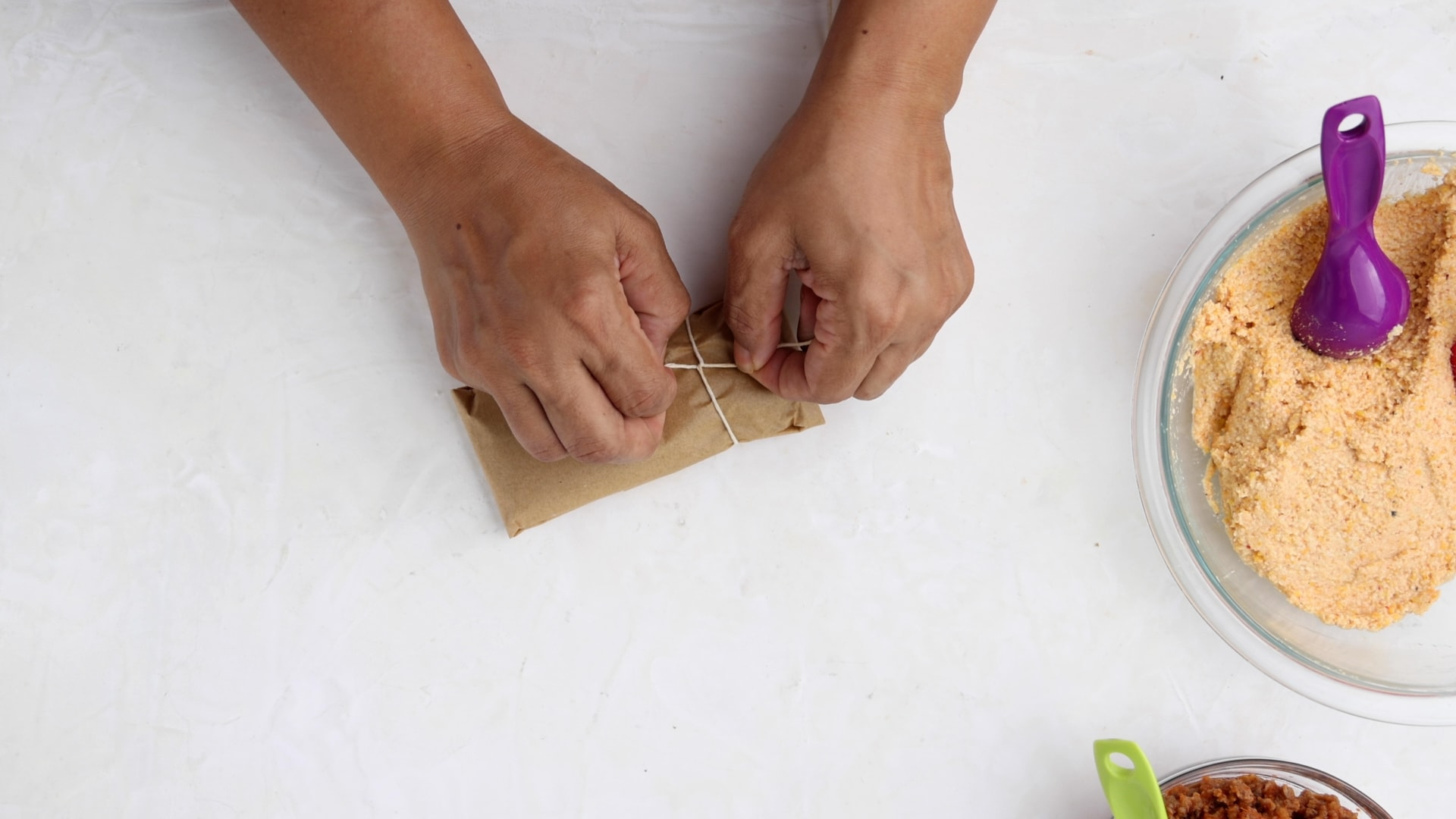 Wrapping pasteles en hoja