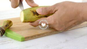 Peeling plantain
