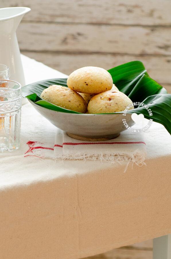 Panecicos (Cassava and Pork Crackling Rolls)