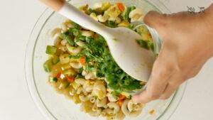 Stirring cilantro