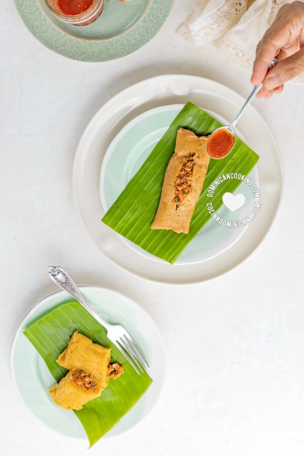 Pasteles en Hoja (Plantain and Beef Pockets)
