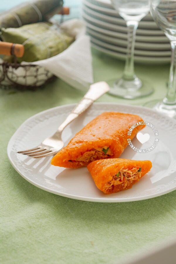 Pasteles en hoja de yuca (Dominican tamales)