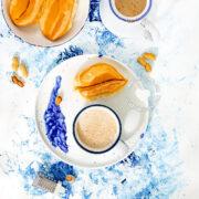 """Chocolate de Maní (Peanut """"Cocoa"""") served with pan de agua"""