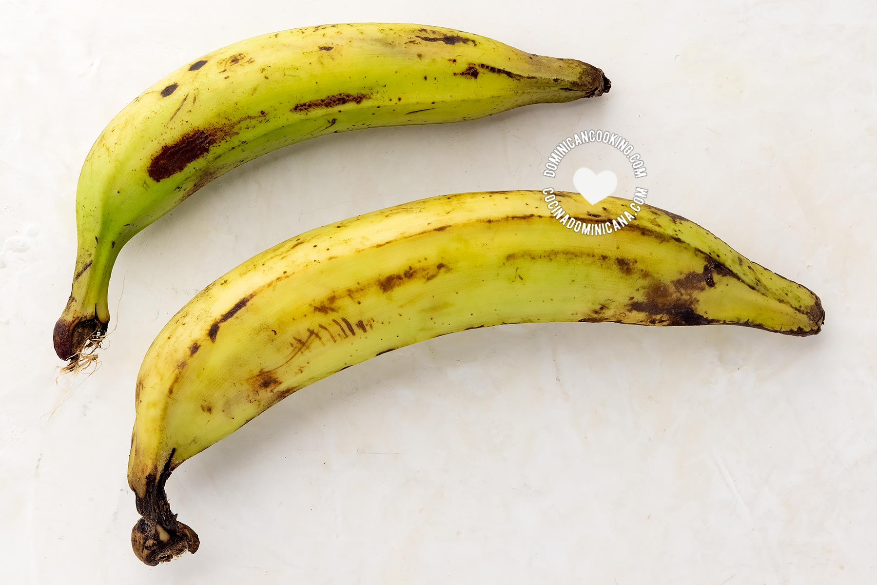 Two plantains of different sizes