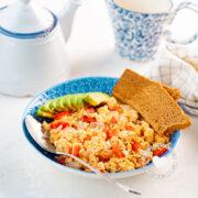 Revoltillo de Huevos (Scrambled Eggs a la Dominicana)