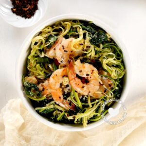 Bowl of zucchini-noodles