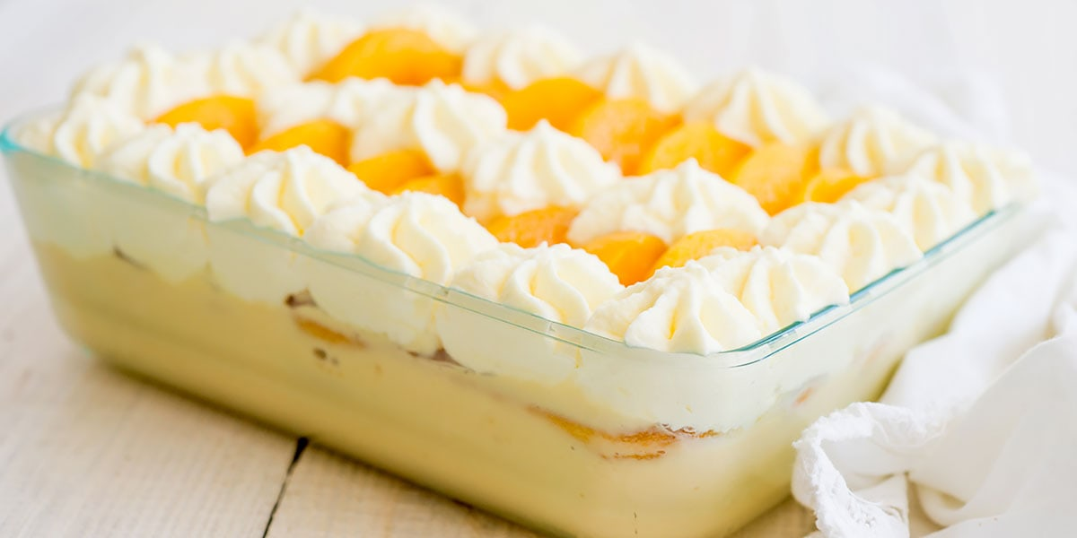 Dominican trifle in baking mold