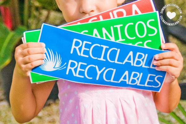 Recyclable garbage labels