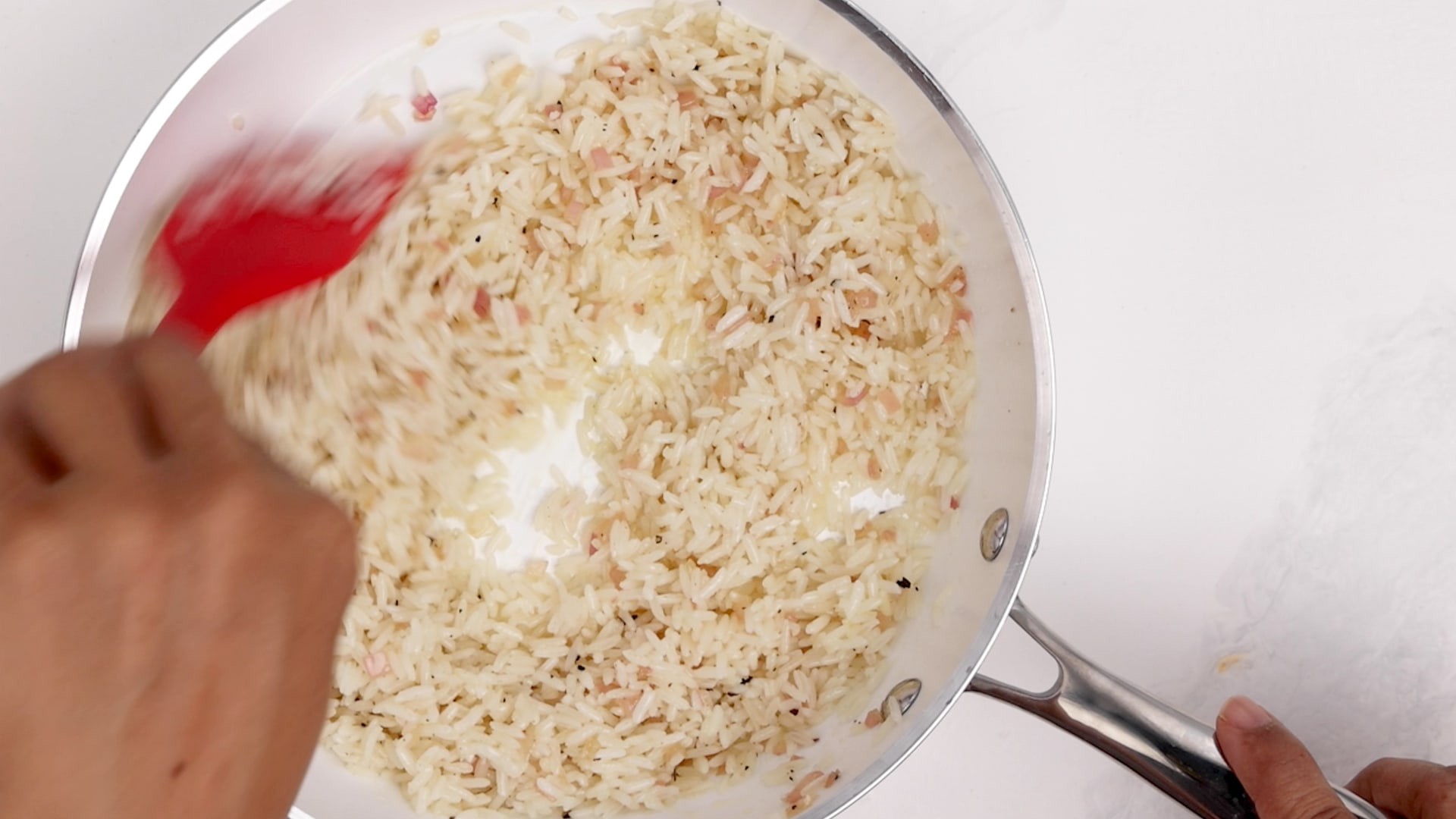 Heating the rice