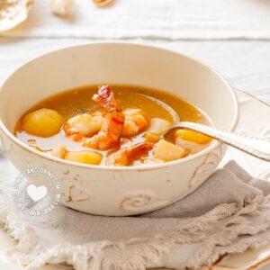 """Bowl of """"Sancocho"""" de Mariscos (Shellfish Stew)"""