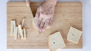 Prepping bread