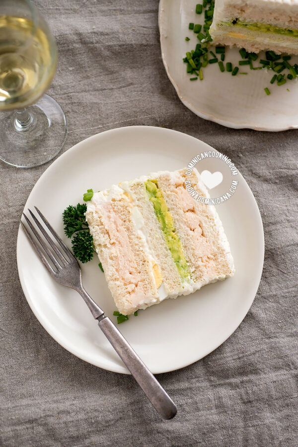 Shrimp Sandwichon (Party Sandwich Cake)