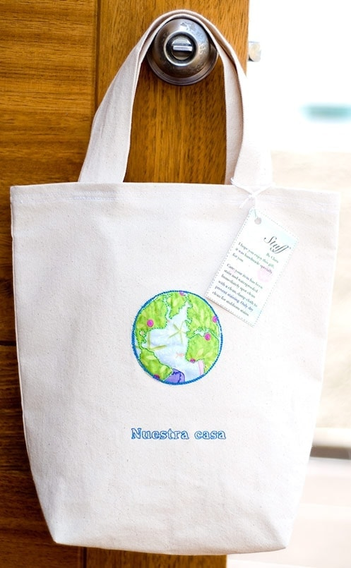 Pretty Homemade Reusable Shopping Bag