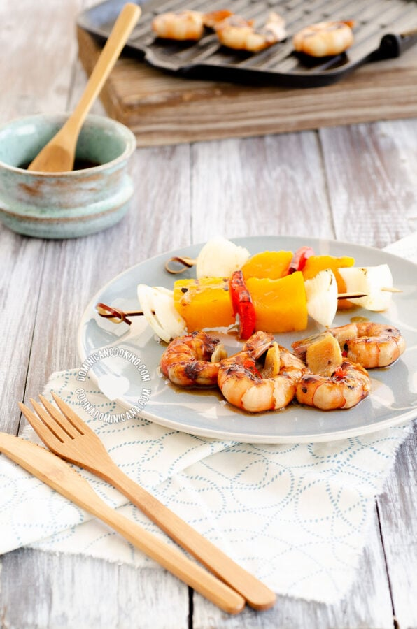 Tiger Prawns in Ginger Marinade