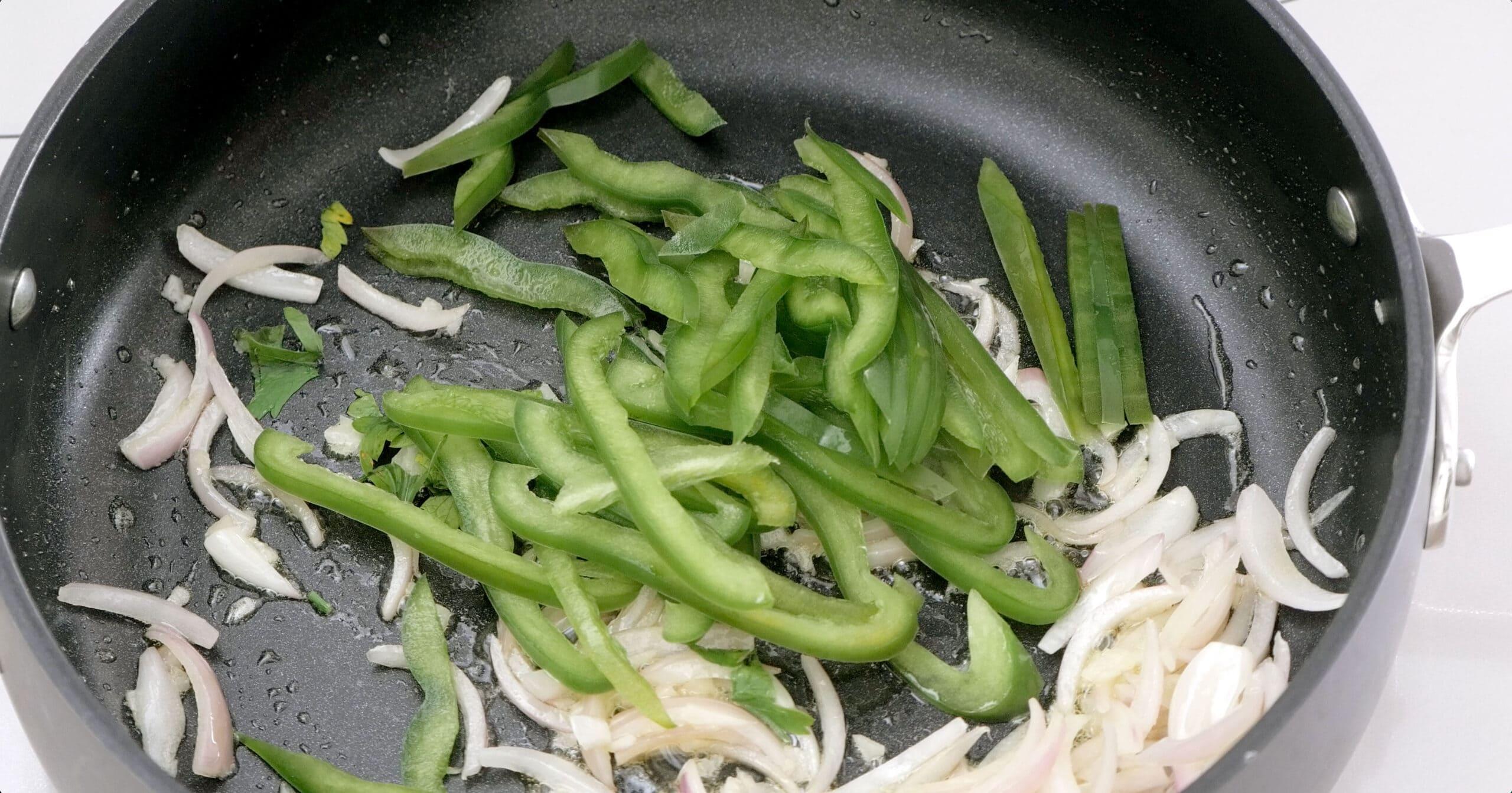 Sauteing sazón ingredients
