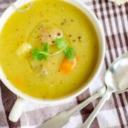 Bowl of Green Split Pea Soup