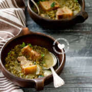 Pigeon Peas and Pork Roast (or Cracklings) Stew