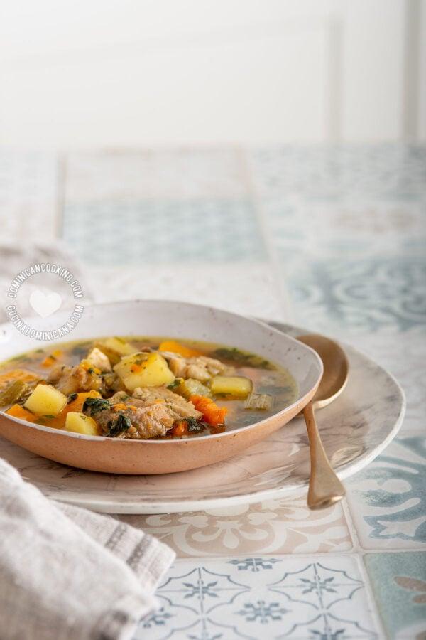 Dominican Sopa de Hueso de Res