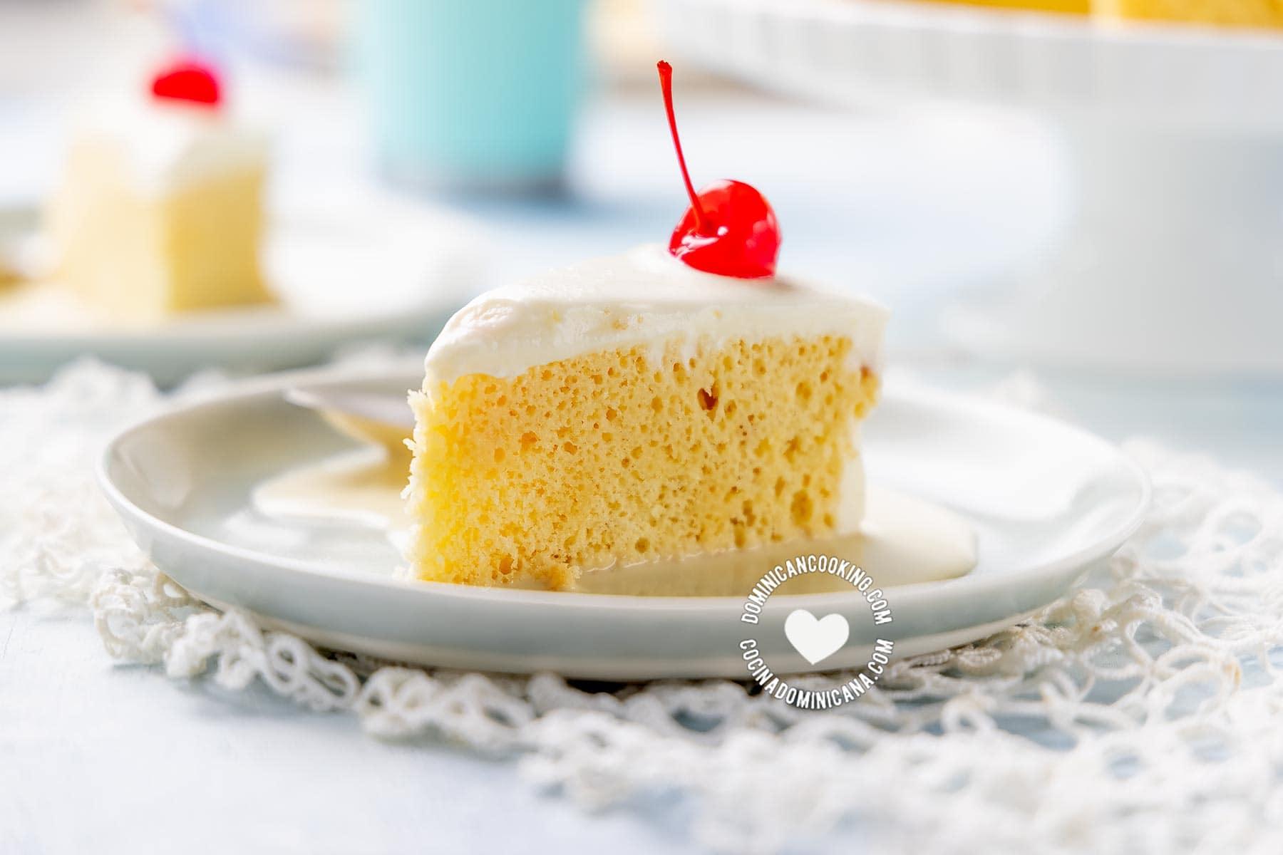 Slices of Tres Leches (Three-Milk Cake)