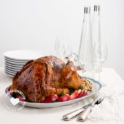 Turkey a la Dominicana Stuffed with Rice and Pigeon Peas