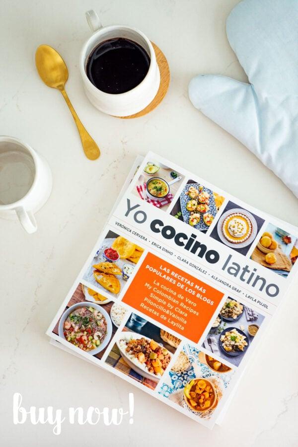 Yo Cocino Latino Cookbook on Kitchen Counter