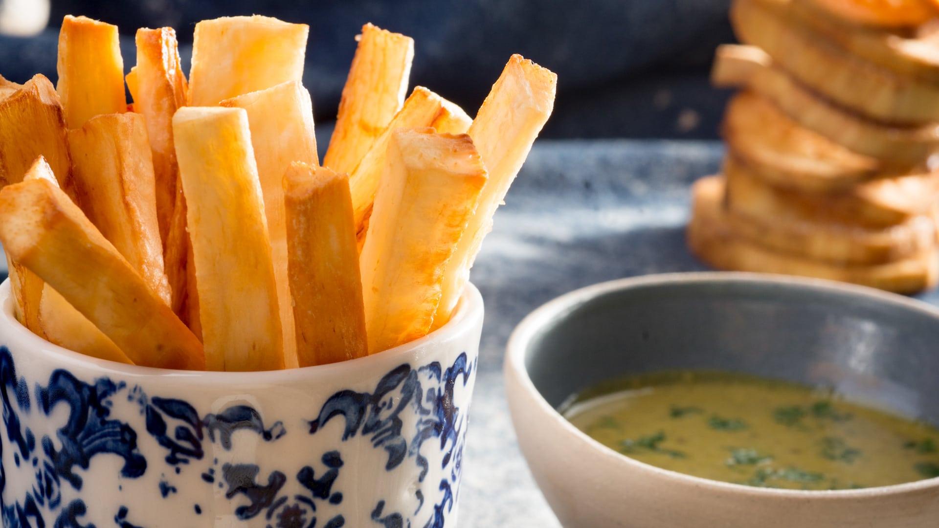 Yuca fries served